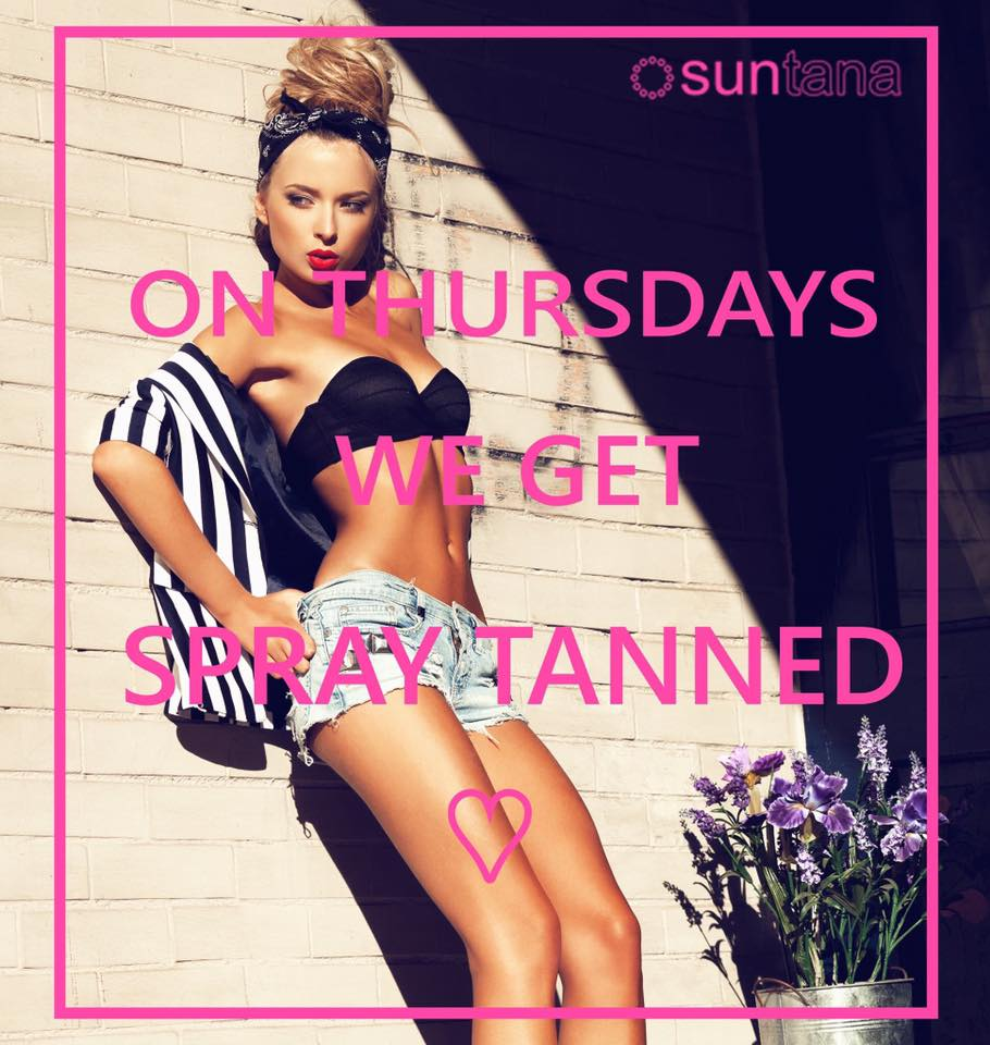 Suntana spray tans available in Light, Medium, Dark & Rapid £20…Continue Reading..
