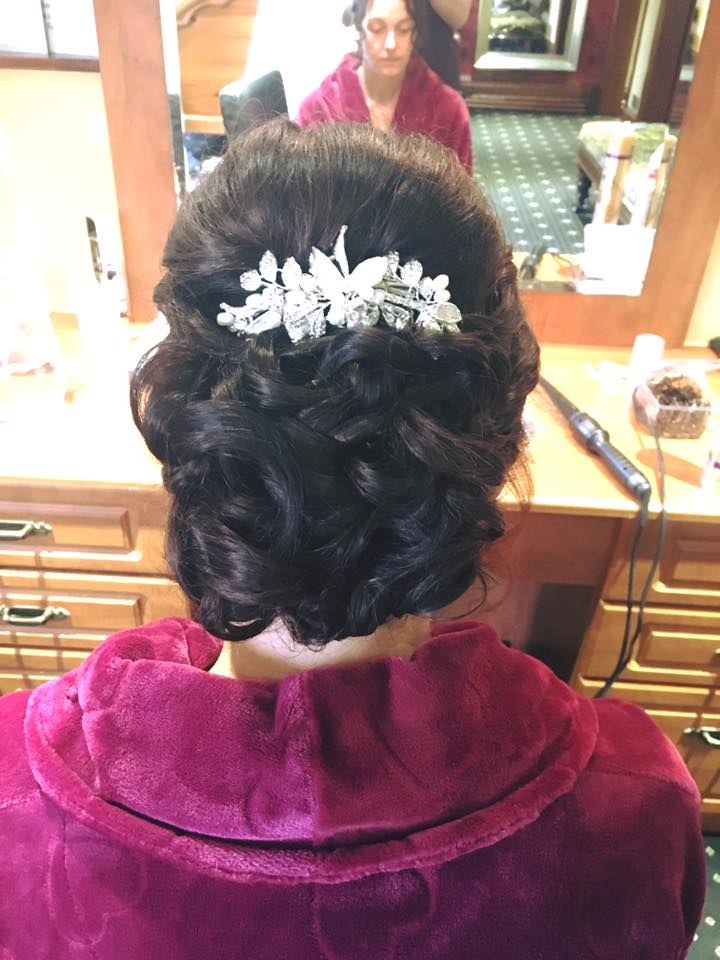 Wedding hair by Stephanie 