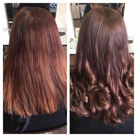 Beautiful colour and curls by Melanie…