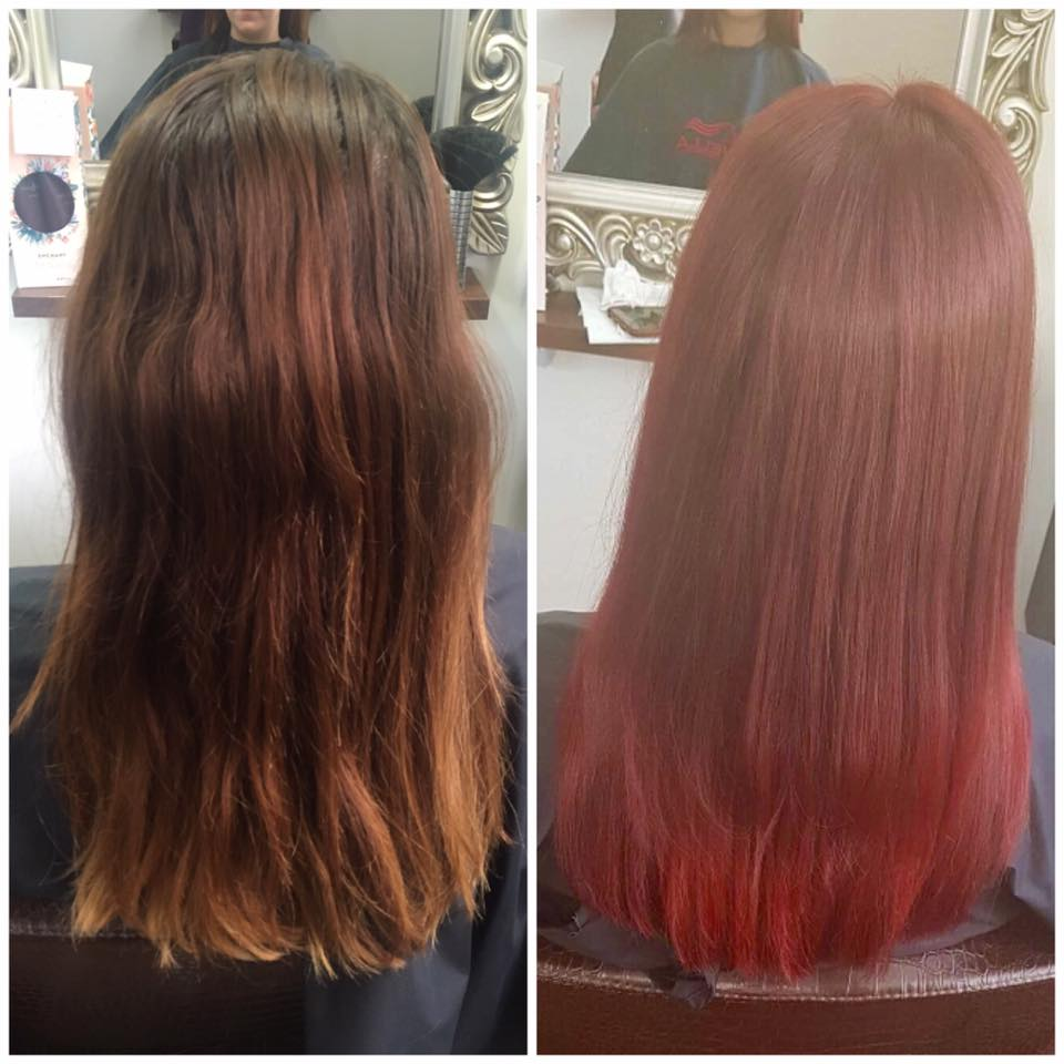 Red Head today created by Melanie using Wella colour…