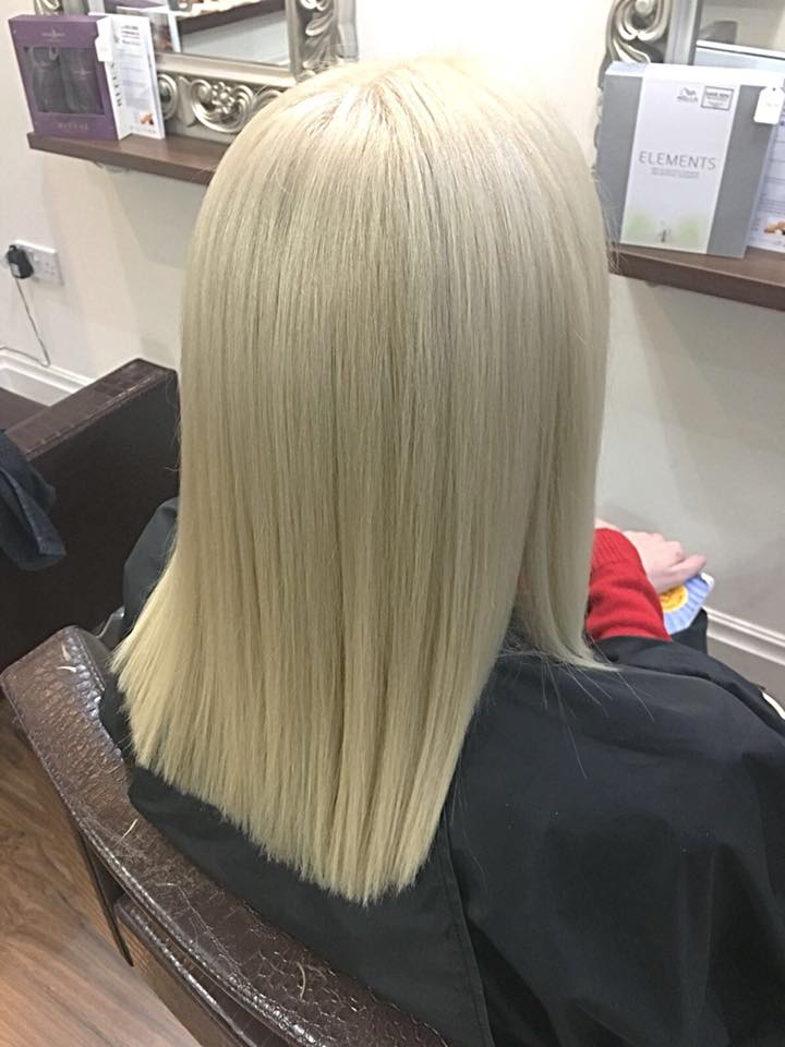 Root Retouch, Toner and Cut by Stephanie…