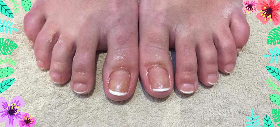Shellac French toes by Tomeeka…Continue Reading..