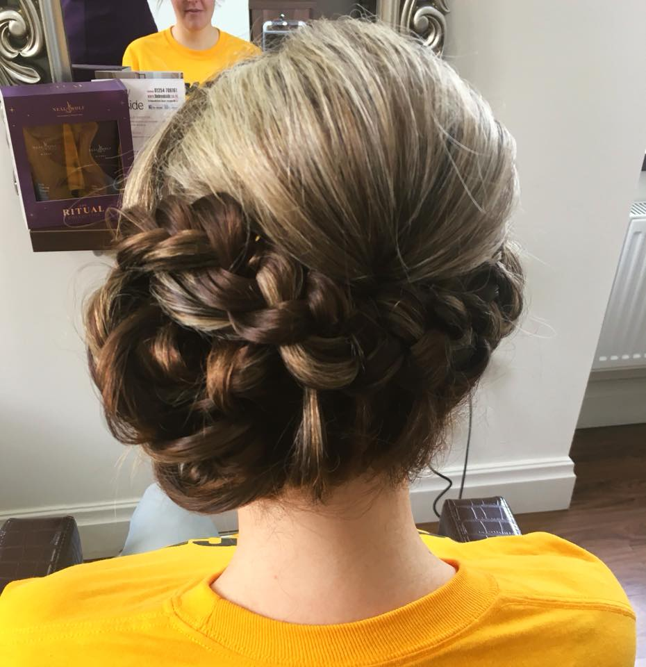 Pretty wedding guest hair by Stephanie …